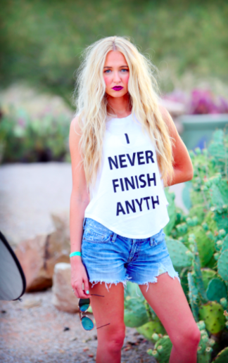 """I never finish anyth"" -Photo via majtees.com"