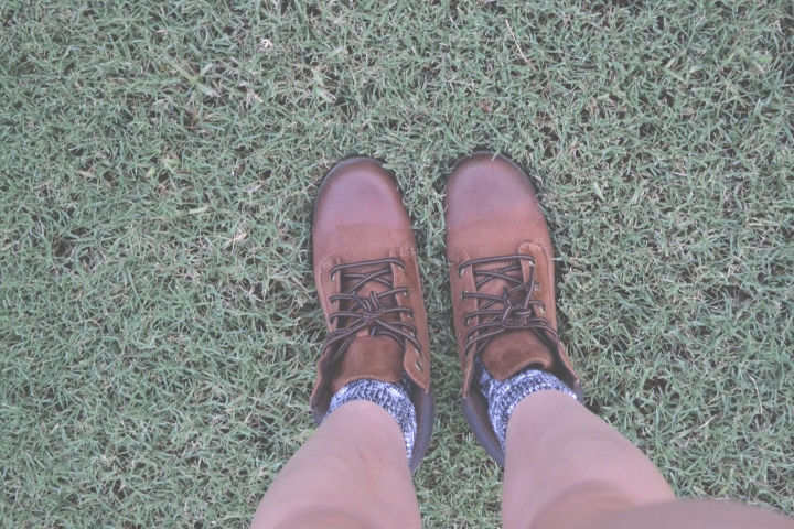 Boots in Grass