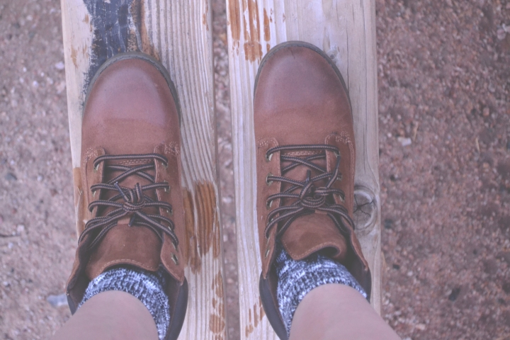 Boots on Wood