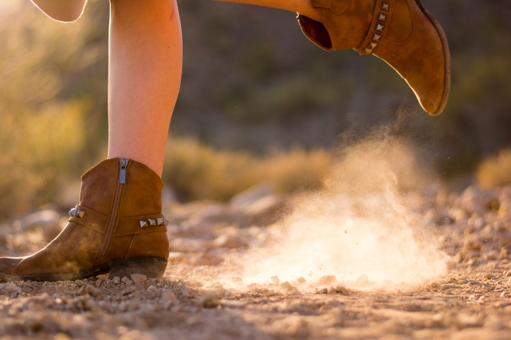 boots in dust