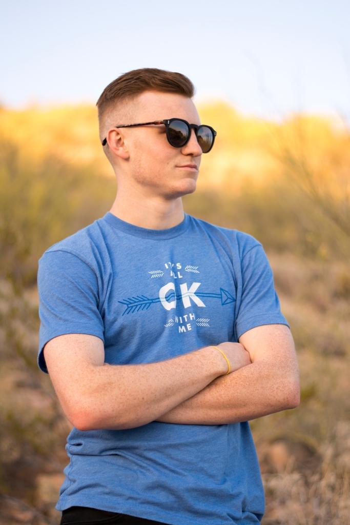 spencer in sunglasses