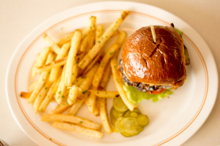 Hamburger and garlic fries from The Normal Diner in Tempe near ASU, Dash of Daisy Blog