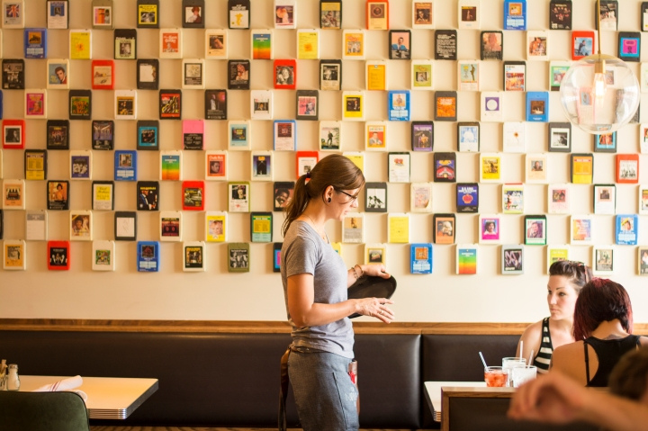 8-Track Wall from The Normal Diner in Tempe near ASU, Dash of Daisy Blog