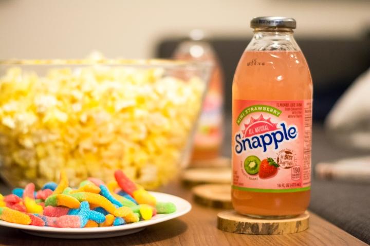 Snapple, Worms, Popcorn