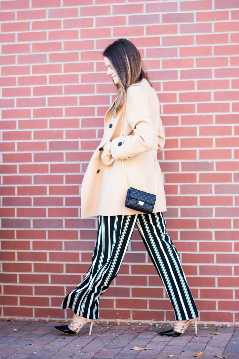 Striped Trousers for an Office Casual Look