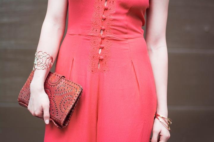 Free People Coral Jumpsuit Details for Coachella 2016 Dash of Daisy Blog Taylor Seely