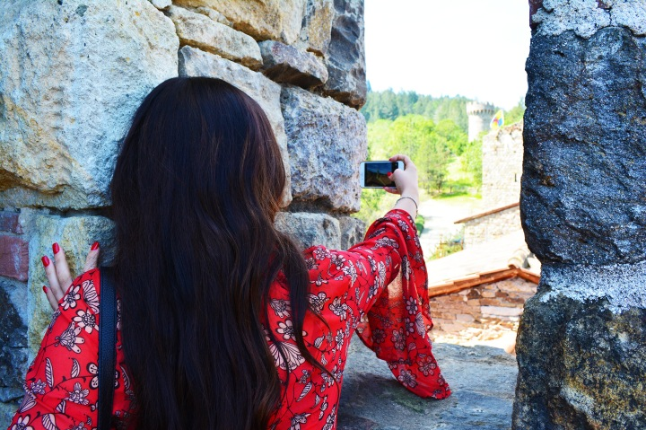 Maryssa Taking Pics in Napa Valley at Castello di Amorosa