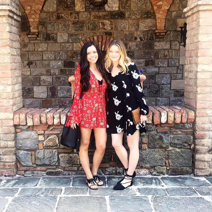 Maryssa Thomas Taylor Seely at Castello di Amorosa Winery in Napa Valley