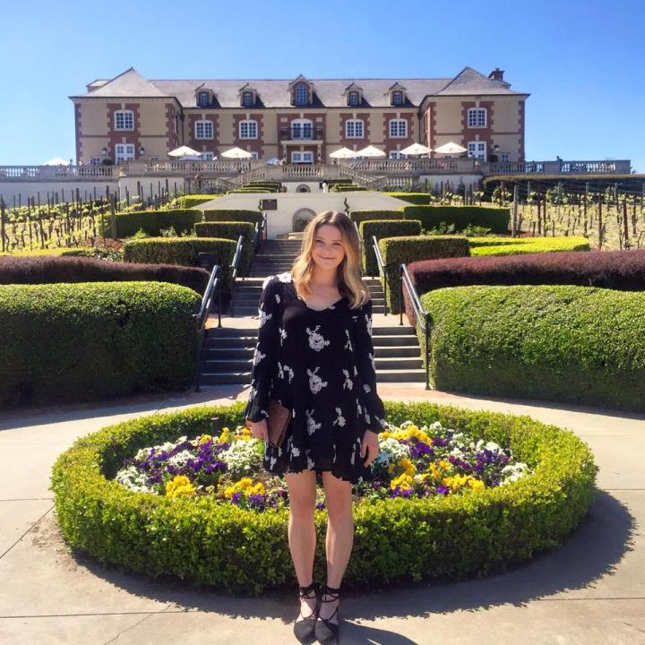 Taylor Seely at Domaine Carcineros Winery