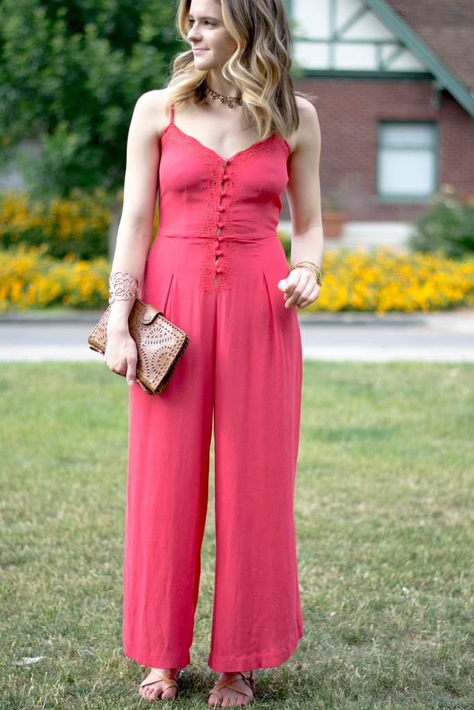 Taylor Seely Dash of Daisy Blog Free People Jumpsuit Cleobella Clutch Target Sandals for Coachella Style 2016