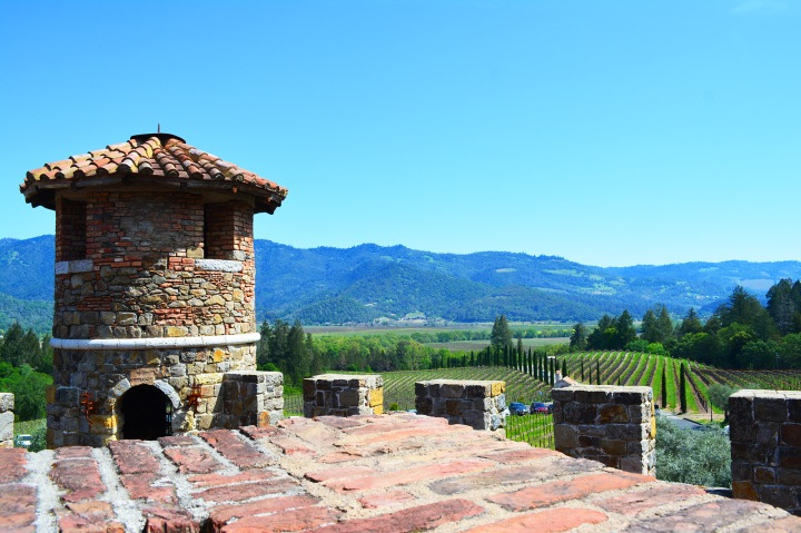 View Looking Out of Castello di Amorosa