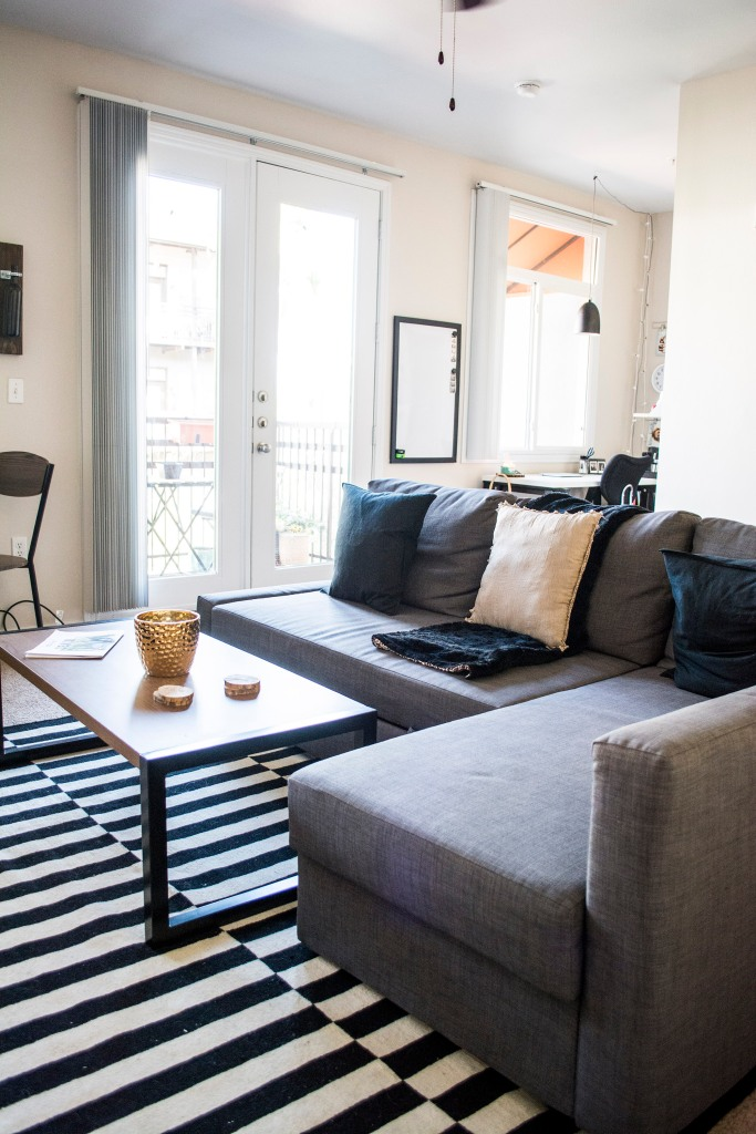 Apartment Living Room Decor Monochromatic_On Budget_Ikea_Target_Student_Taylor Seely_Dash Daisy_Blog