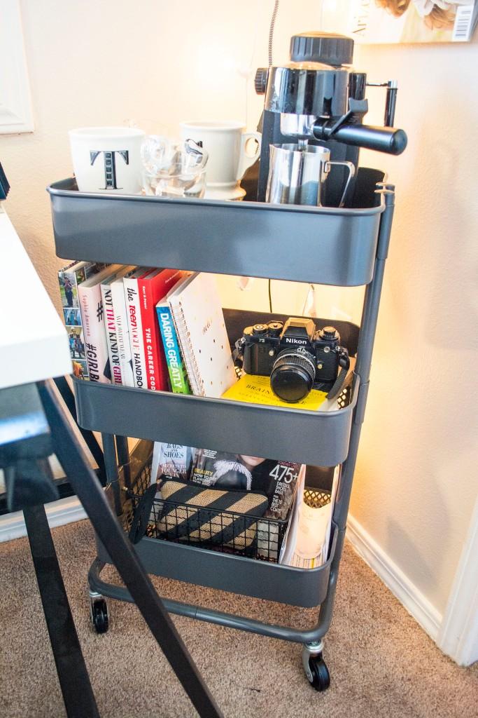 Ikea_Raskog_Cart_Gray_Office_Coffee_Cart_Dash_Daisy_Blog