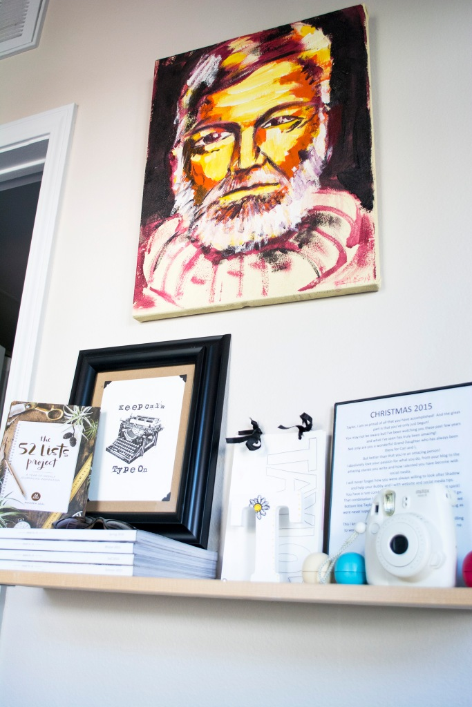 Inspiration Wall Decor_Darling Magazine_Ernest Hemingway_Dash Daisy Blog_Taylor Seely_Apartment Decor