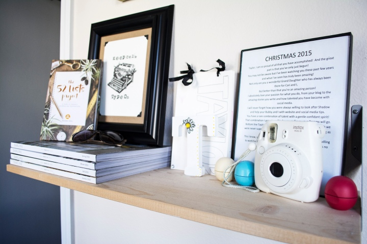 Inspiration Wall Shelf_52 Lists Project_Darling Magazine_Polaroid_taylor seely_Dash Daisy Blog
