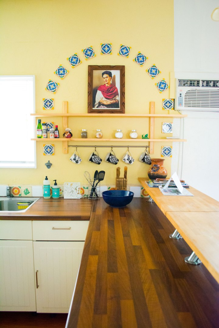 Frida-Kahlo-Kitchen-Coffee-Wall-AirBNB-San-Diego-CA